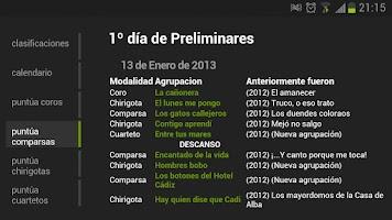 Screenshot of Carnaval de Cádiz Android