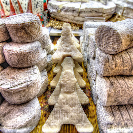 Eiffel Tower Cheese by Ben Hodges - Food & Drink Meats & Cheeses ( paris, eiffel tower, fruit, hdr, yum, france, cheese, goats cheese )