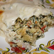 White Spinach Lasagna
