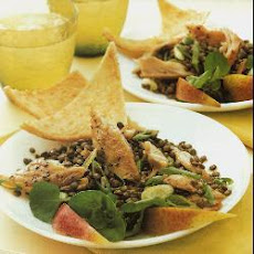 Smoked mackerel and Puy lentil salad with lime dressing