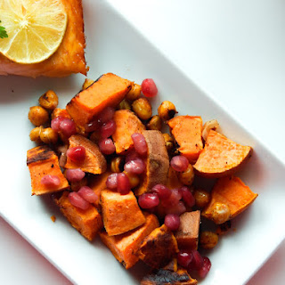 Spicy Pomegranate Sweet Potato Salad