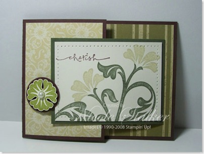 Brocade Joy Fold Card closed