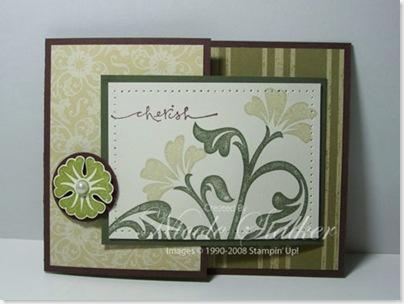 Brocade Joy Fold Card closed