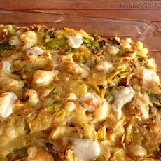 Cheesy Leek and Potato Bake