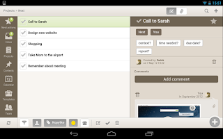 Screenshot of Nozbe HD for Tablets