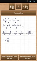 Screenshot of FracCalc Free