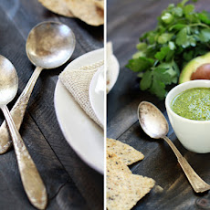 Chicken and White Bean Chile Verde with Cilantro-Lime Pesto