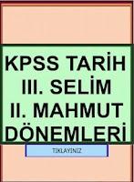 Screenshot of KPSS III. SELİM ve II. MAHMUT