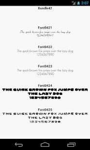 Fonts for FlipFont 42 - screenshot
