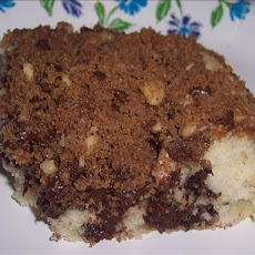 Chocolate Coffee Cake With Chocolate Streusel Topping