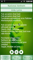 Screenshot of Pakistan National Anthem