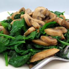 Sauteed Spinach With Mushrooms