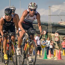 Racing by Rossana Ferreira - Sports & Fitness Cycling ( teleperformance os belenenses, athletes, triathlon, sport, nikon d7100, belem, portugal, lisboa, iv triatlo de lisboa )