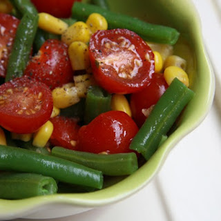 Green beans, Corn, and Cherry Tomato Cook-Out Salad