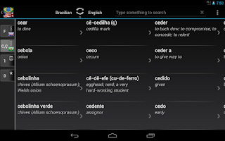 Screenshot of Dictionary Brazilian English