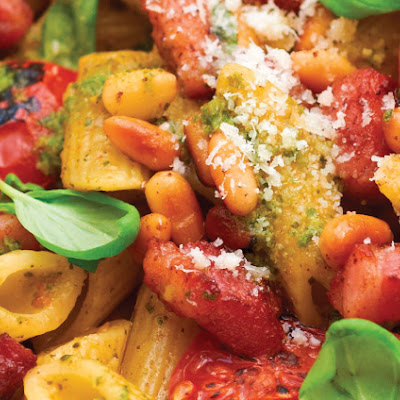 Bacon & Tomato Pesto Pasta
