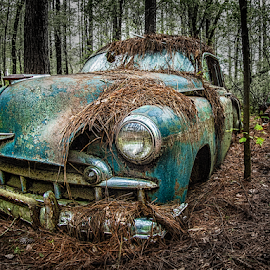 Faded Glory by Marie Otero - Transportation Automobiles ( car, old, hdr, vintage, transport, vehicle, derelict, faded, rusty )