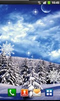 Screenshot of Winter Moon Live Wallpaper