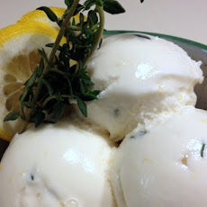 Lemon, Honey and Thyme Frozen Yogurt