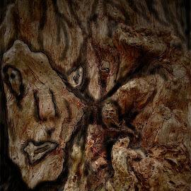 Tree Art by David Hannah - Digital Art Abstract