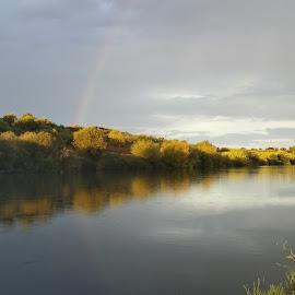 Arco Íris  by Jose Calado - Landscapes Weather ( thunder, mora, portugal, landscape, rainbow )