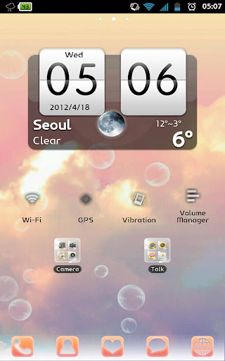 Bubbles Apex GO launcher Theme