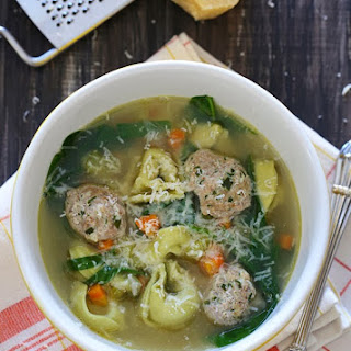 Turkey Meatball Spinach Tortellini Soup