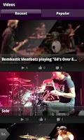 Screenshot of Chad Smith Drum App