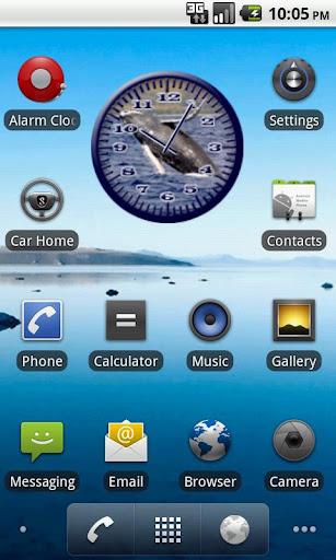 Whale Humpback 2 Analog Clock