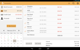 Screenshot of Checkbook