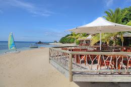 Deck overlooking the beach