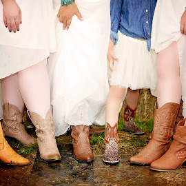 Country Wedding by Darya Morreale - Wedding Groups ( cowboy, wedding, boots, rain, country )