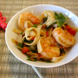 Shrimp & Rice Noodle Stir Fry