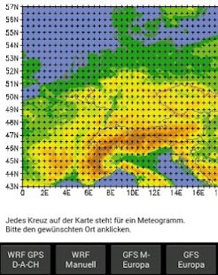 GFS/WRF Europe - screenshot