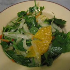 Watercress Salad With Tequila Tangerine Dressing
