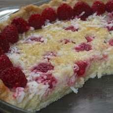 Raspberry-Coconut Custard Pie