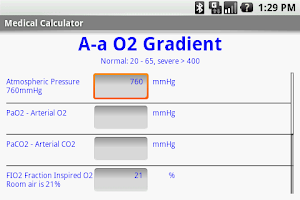 Screenshot of Medical Calculator