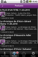 Screenshot of FRANCE CULTURE