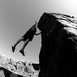Grab by Chris Baxter - Sports & Fitness Other Sports ( climbing, england, quarry, uppermill, saddleworth, matt o'grady, running hill pits, grit stone )