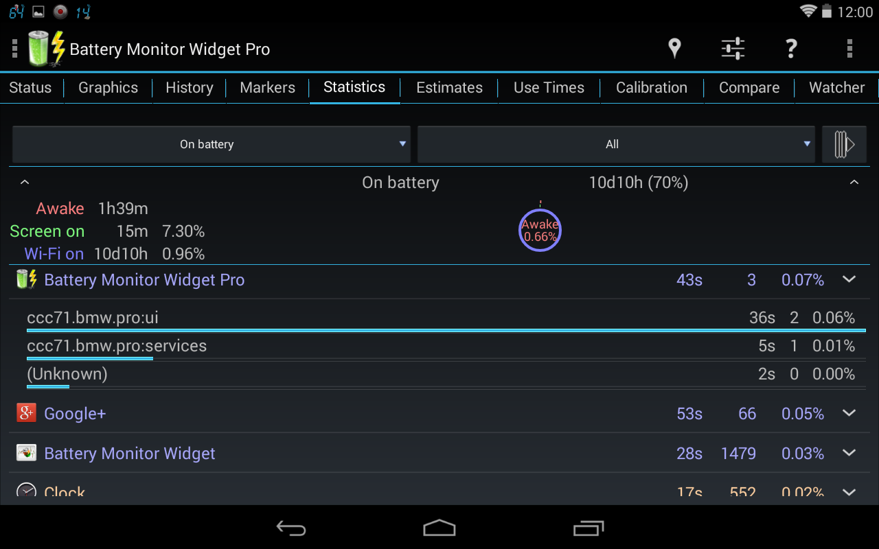 3C Battery Monitor Widget Pro Screenshot 13