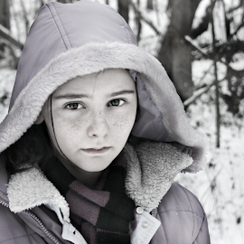 Innocent Revisited by Sydney Dowd - Novices Only Portraits & People ( winter, girl, snow, freckles, young )