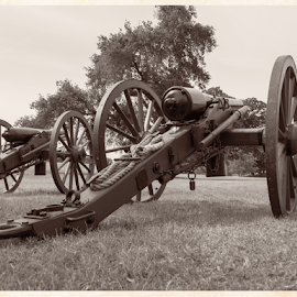 Civil War Days Re-Enactments by Dirk Dreyer - News & Events Entertainment ( canon, sepia, civil-war, gx7, micro four thirds, mirrorless, gun, cannon, m43, lumix, m43ftw, outdoor, panasonic )