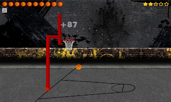 Screenshot of Hoops World Basketball Game