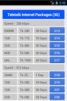 Screenshot of Teletalk Info 3G