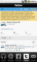 Screenshot of Radio Klasik FM