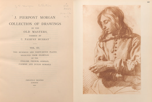 """The <i>J. Pierpont Morgan Collection of Drawings by Old Masters Formed by C. Fairfax Murray</i> was privately printed in <a href=""""http://arcade.nyarc.org/record=b1376051~S1"""">four lavishly illustrated, oversized volumes</a> comprising many attractive reproductions."""