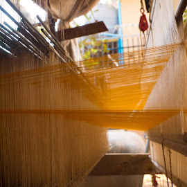 Silk Weaving by Tina Lim - Artistic Objects Clothing & Accessories ( silk, silk weaving, koh dach, cambodia, weaving )