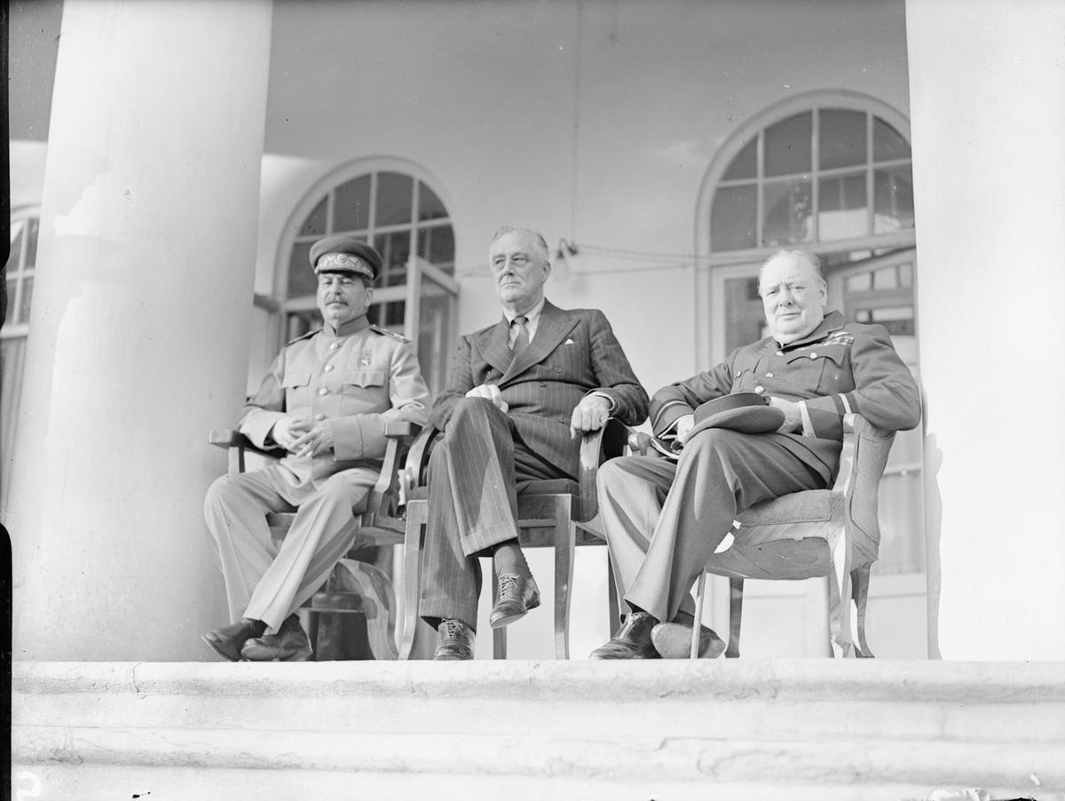The 'Big Three' in Tehran, 1943