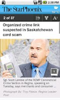 Screenshot of The Saskatoon StarPhoenix