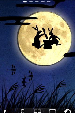 Moon Rabbit お月見 ライブ壁紙